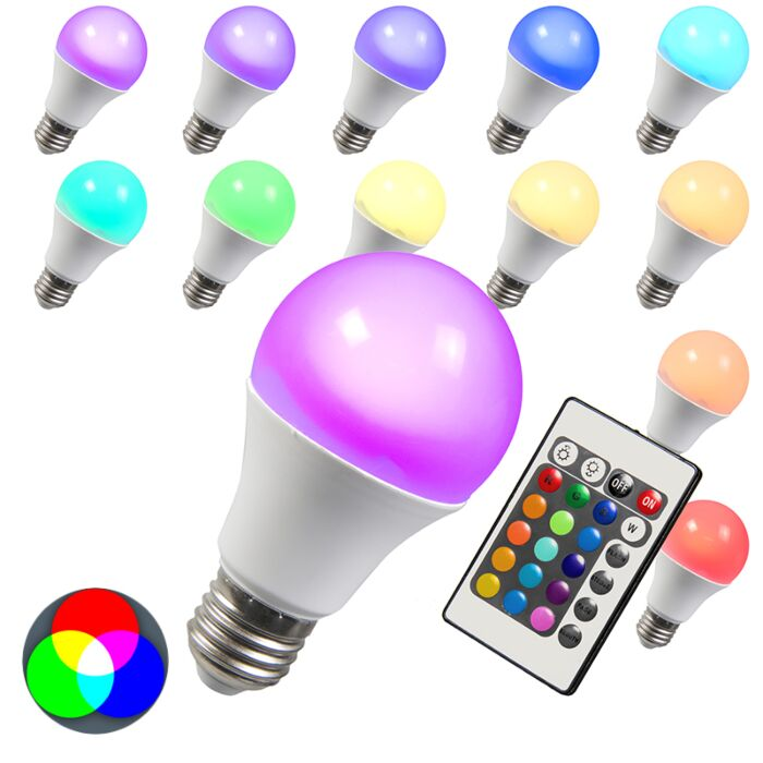 LED-žárovka-RGB-E27-3W