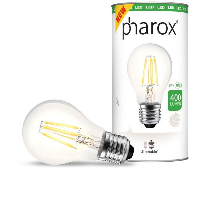 LED-žárovka-Pharox-čirá-E27-4W-400-lumenů
