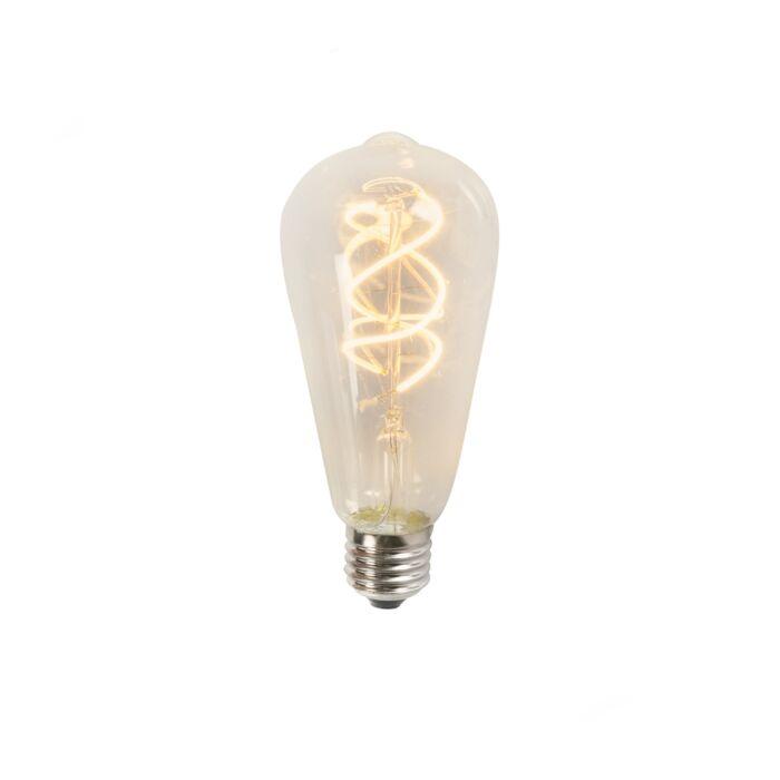 Twisted-LED-filament-ST64-5W-2200K-čirá