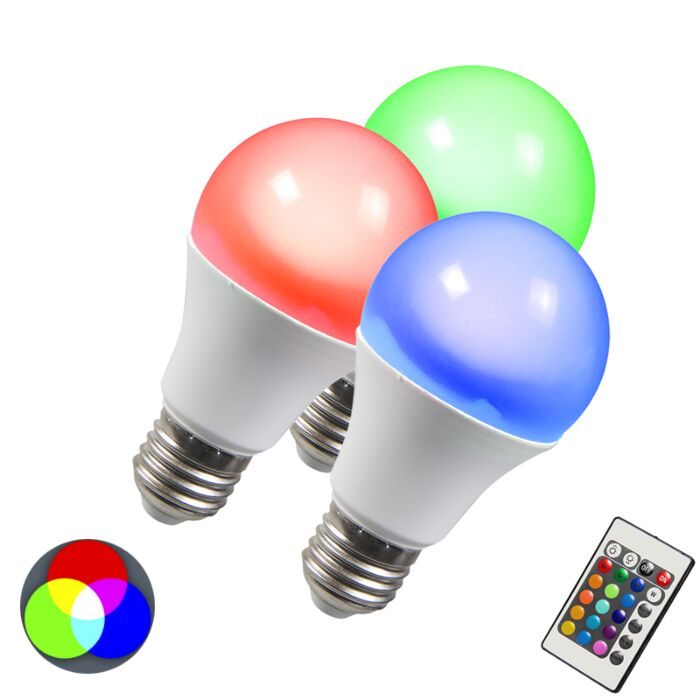 LED-žárovka-RGB-E27-3W-sada-3