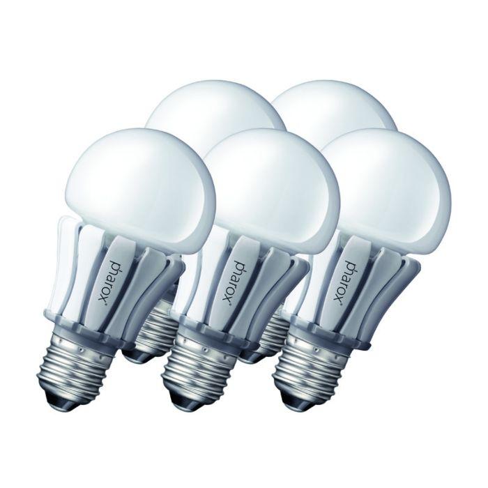 Sada-5-LED-žárovek-Pharox-400-E27-8W-230V