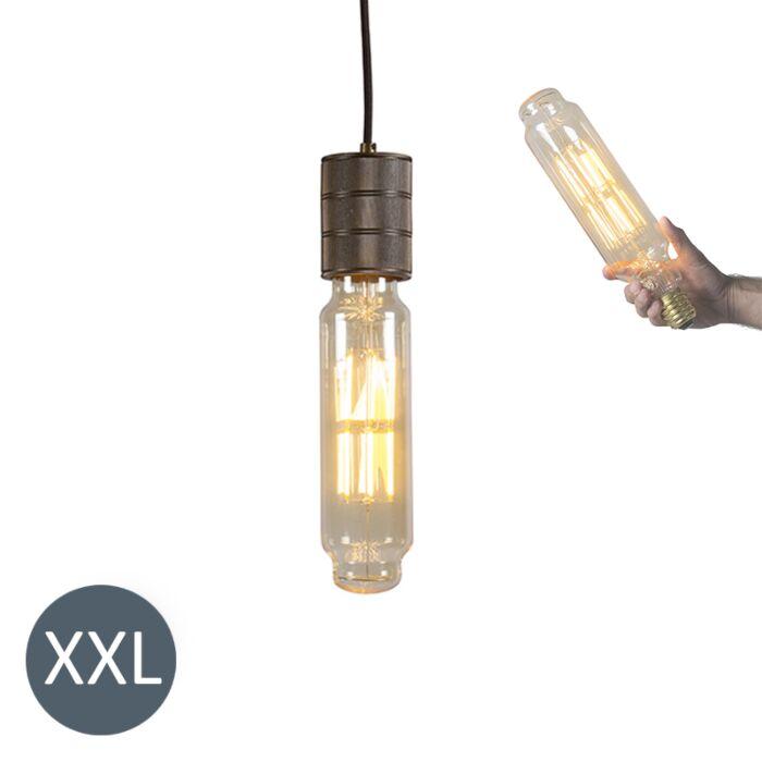 Závěsná-lampa-Tower-bronzová-se-stmívatelnou-LED-lampou