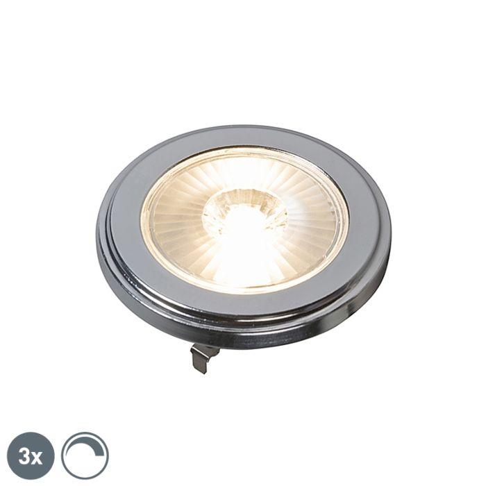 Sada-3-stmívatelných-LED-lamp-G53-AR111-10W-800LM-3000K