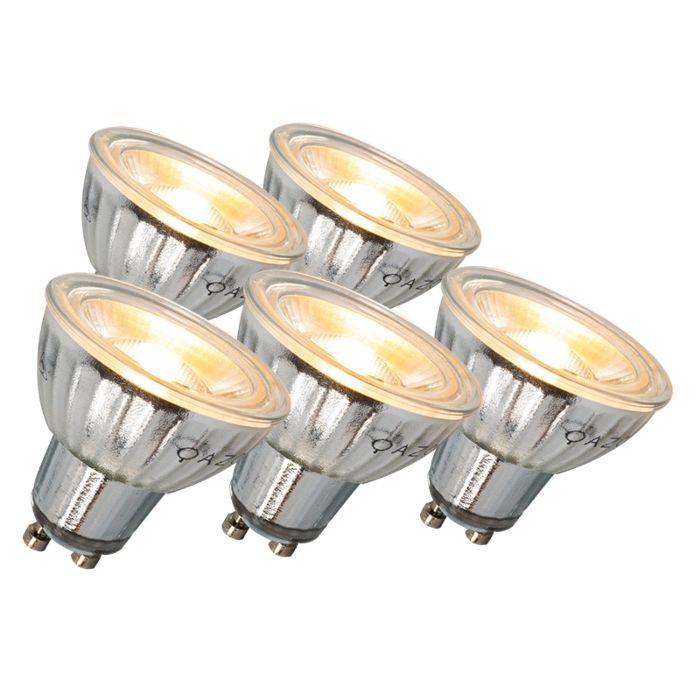 GU10-LED-lampa-7W-500LM-3000K-stmívatelná-sada-5