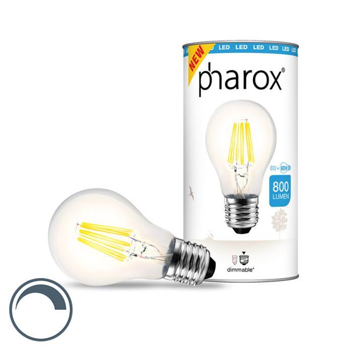 LED-žárovka-Pharox-čirá-E27-8W-800-lumenů