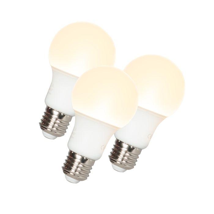 Sada-3-LED-žárovek-A60-E27-9W-3000K