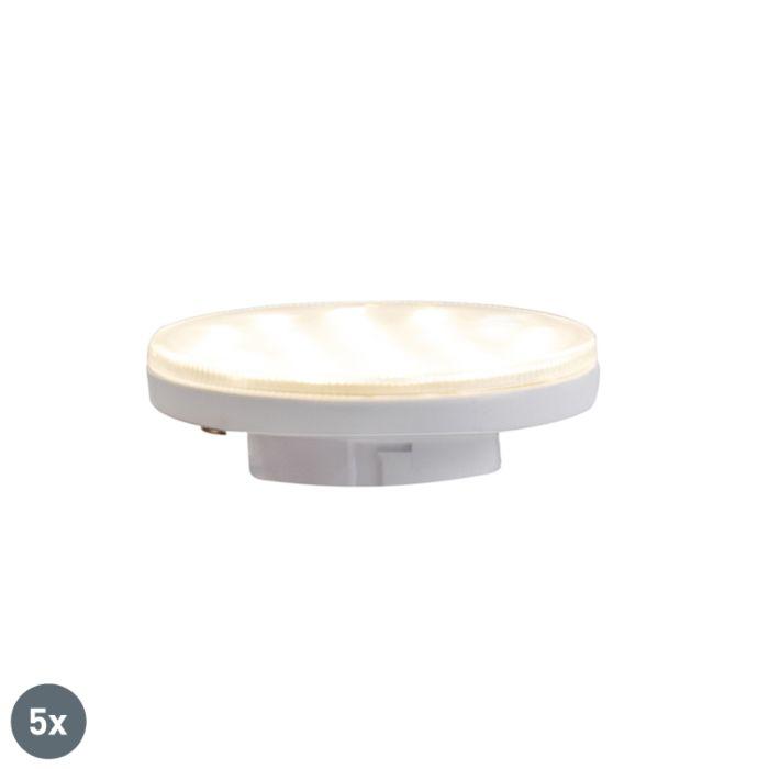 Sada-5-třístupňových-stmívatelných-LED-žárovek-GX53-3W-350-lm-3000K