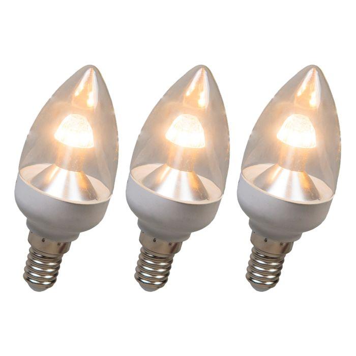 LED-svíčka-E14-4W-250-lumenů-teplá-bílá-Stmívatelná-sada-3