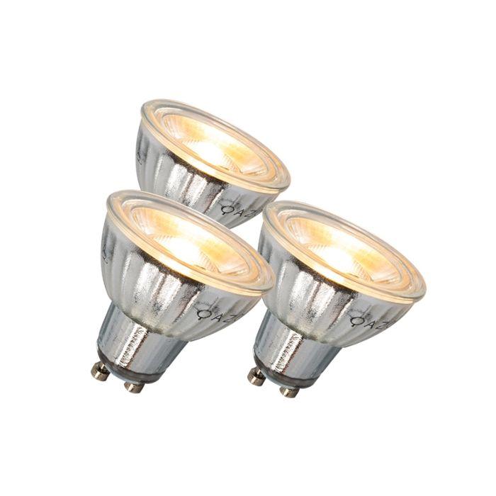 GU10-LED-lampa-7W-500LM-3000K-stmívatelná-sada-3