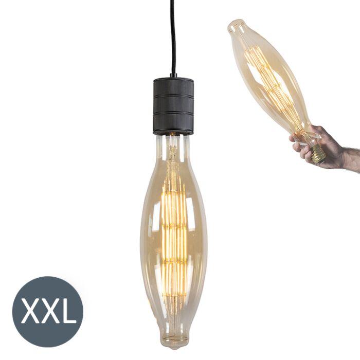 Závěsná-lampa-Elips-černá-se-stmívatelnou-LED-lampou