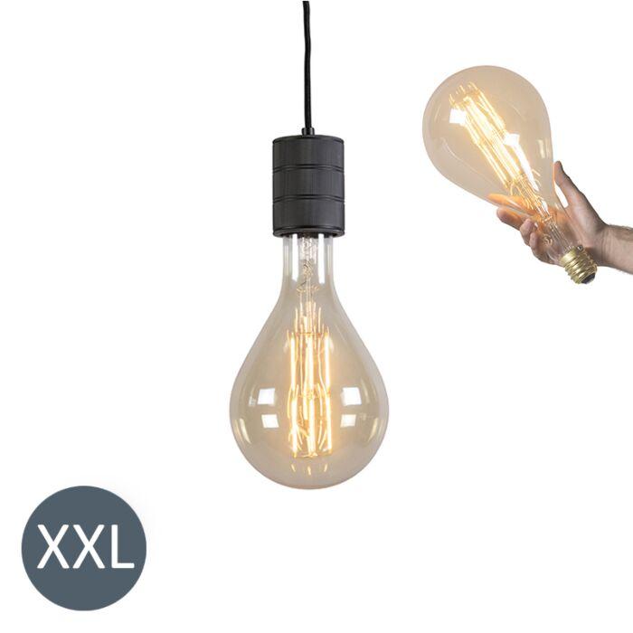 Závěsná-lampa-Splash-black-se-stmívatelnou-LED-lampou