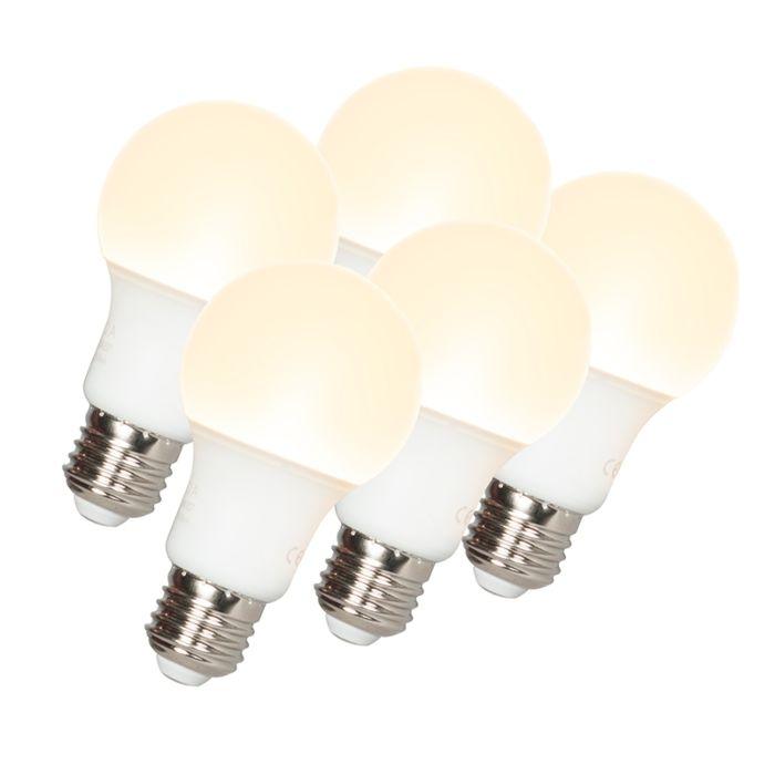 Sada-5-LED-žárovek-A60-E27-9W-3000K