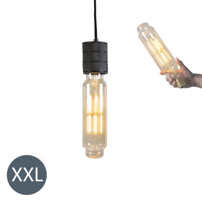 Závěsná-lampa-Tower-černá-se-stmívatelnou-LED-lampou