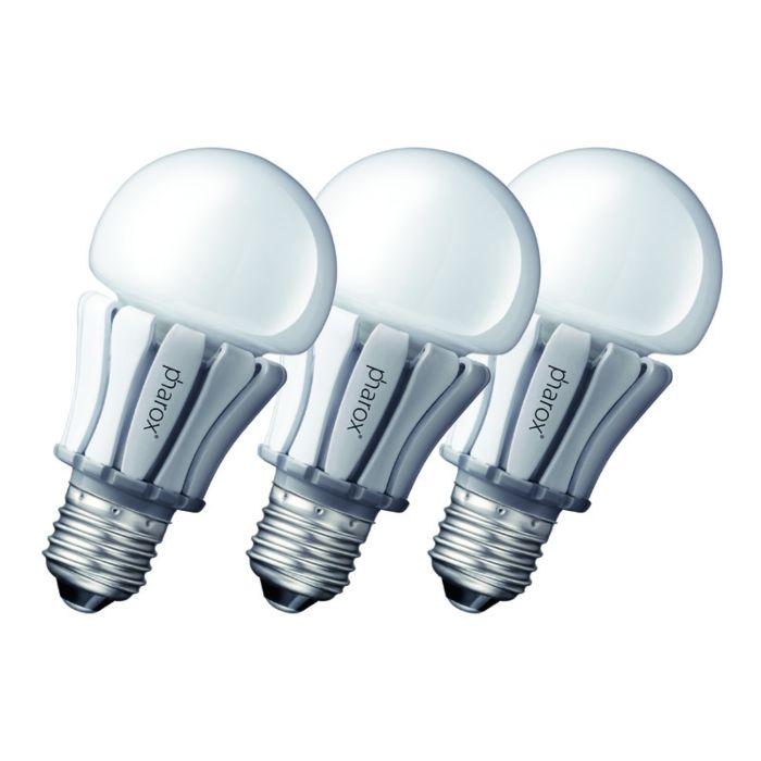 Sada-3-LED-žárovek-Pharox-400-E27-8W-230V