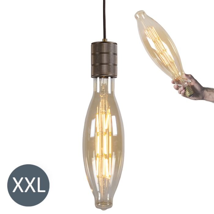 Závěsná-lampa-Elips-bronzová-se-stmívatelnou-LED-lampou