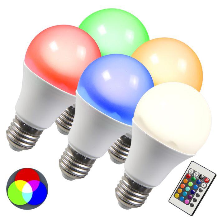 LED-žárovka-RGB-E27-3W-sada-5