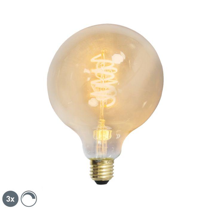 Sada-3-E27-stmívatelných-LED-kroucených-vláken-G125-goldline