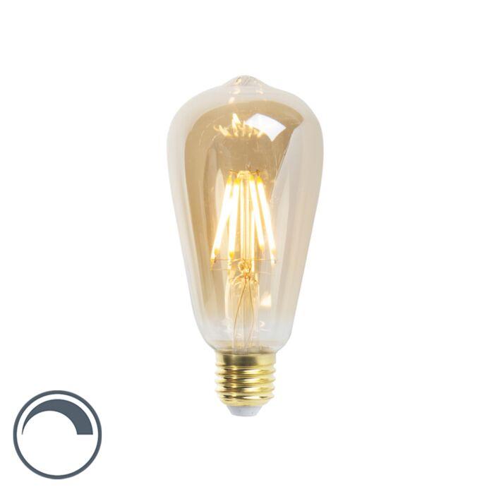LED-žárovka-ST64-E27-5W-360-lumenů-2200K-stmívatelná