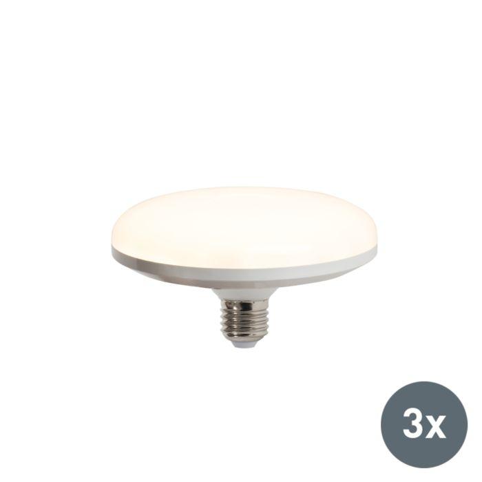 Sada-3-LED-žárovek-UFO-E27-18W-teplá-bílá