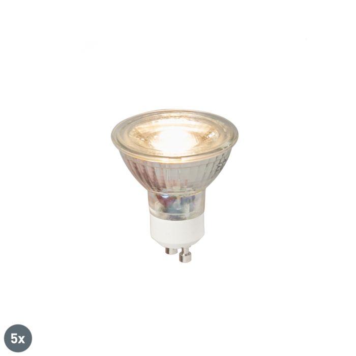 Sada-5-LED-žárovek-GU10-COB-5W-380LM-3000K