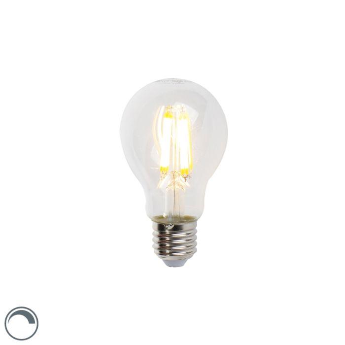 LED-žárovka-E27-7W-806lm-A60-stmívatelná-čirá