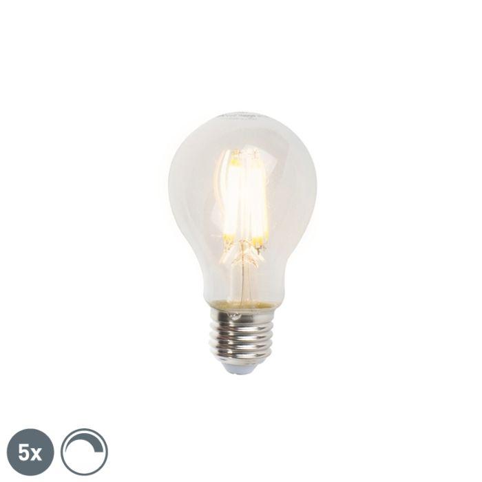 Sada-5-stmívatelných-LED-žárovek-E27-A60-7W-806lm-2700K