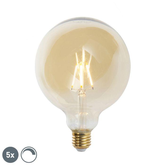 Sada-5-stmívatelných-LED-žárovek-E27-G125-goldline-2200K