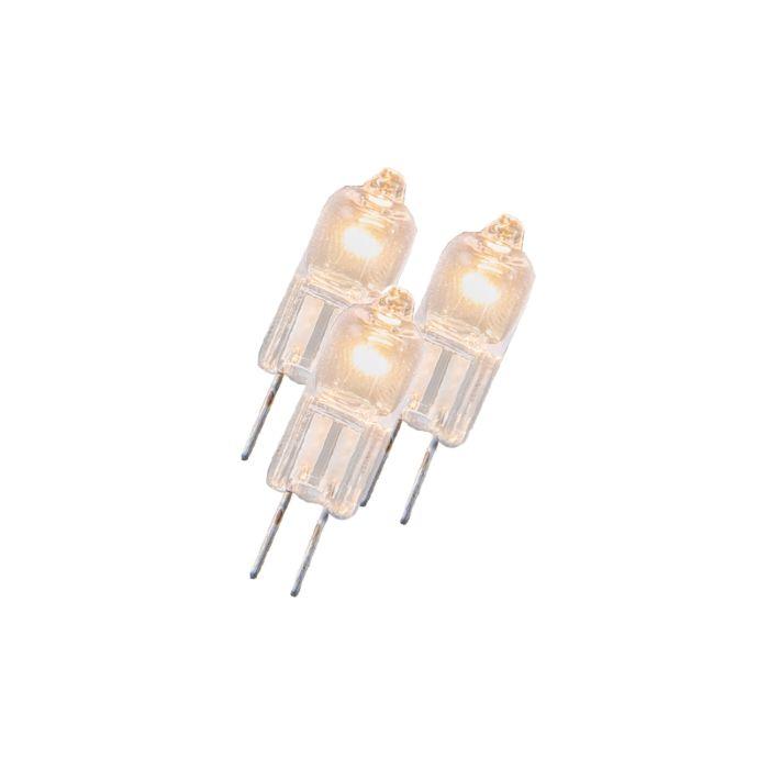Sada-3-halogenových-žárovek-G4-5W-12V-čiré