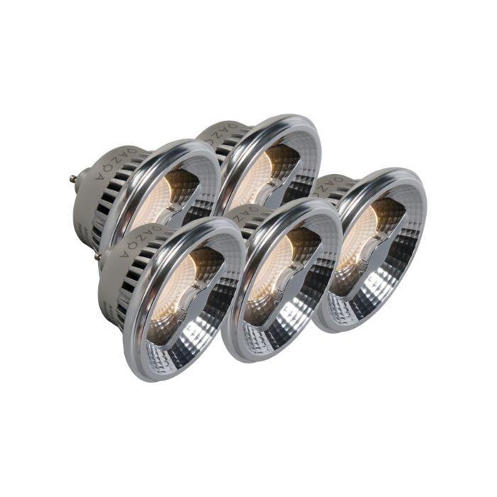 Sada-5-světel-GU10-AR111-LED-12W-240V-3000K-stmívatelných