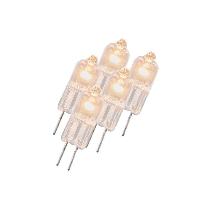 Sada-5-halogenových-žárovek-G4-5W-12V-čiré