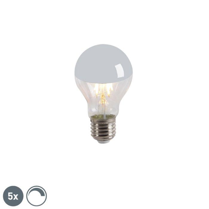 Sada-5-LED-zrcadlových-žárovek-s-vláknem-E27-240V-4W-300lm-A60-stmívatelných