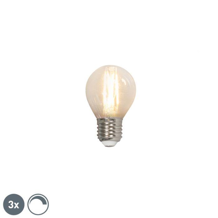 Sada-3-LED-žárovek-s-vlákny-E27-240V-3,5W-350lm-P45-stmívatelných