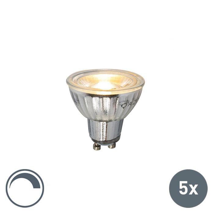 Sada-5-LED-žárovek-GU10-stmívatelných-230V-5W-380LM-2700K