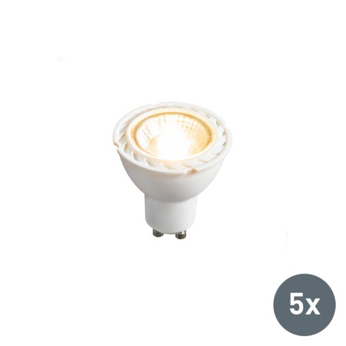 Sada-5-LED-žárovek-GU10-240V-7W-2700K-stmívatelných