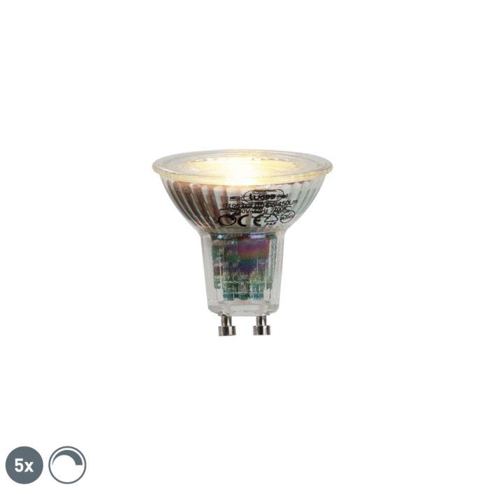 Sada-5-GU10-LED-žárovek-6W-450lumen-2700K-stmívatelných