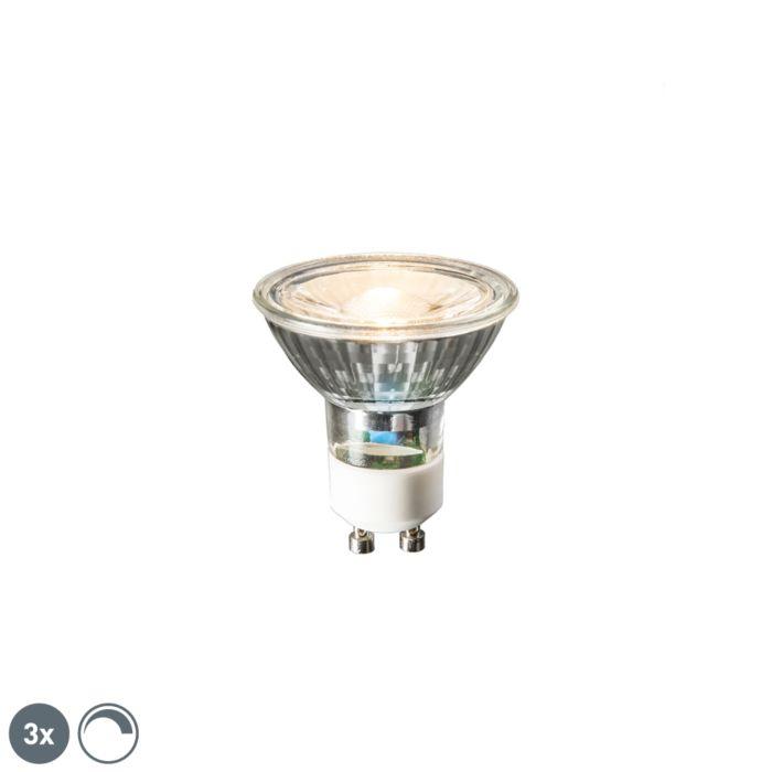 Sada-3-LED-žárovek-GU10-6W,-450-lumenů,-2700K-stmívatelných