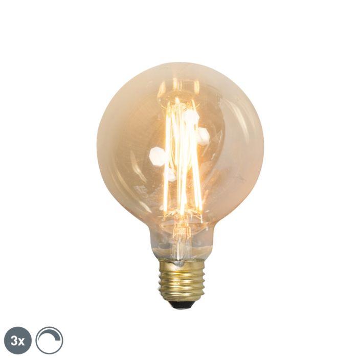 Sada-3-stmívatelných-LED-žárovek-E27-G95-goldline-2100K