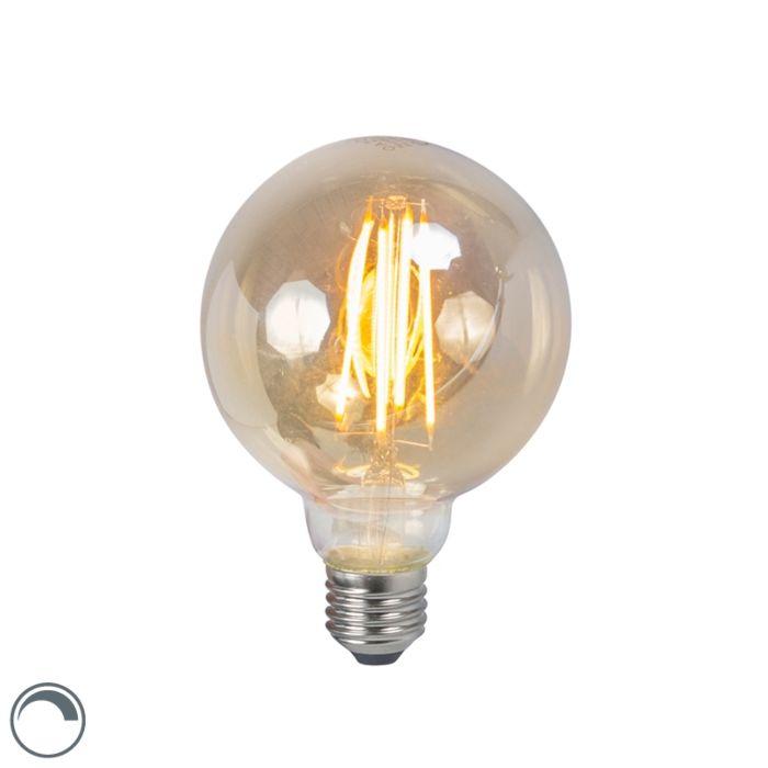 LED-žárovka-E27-5W-2200K-G95-kouřová-stmívatelná