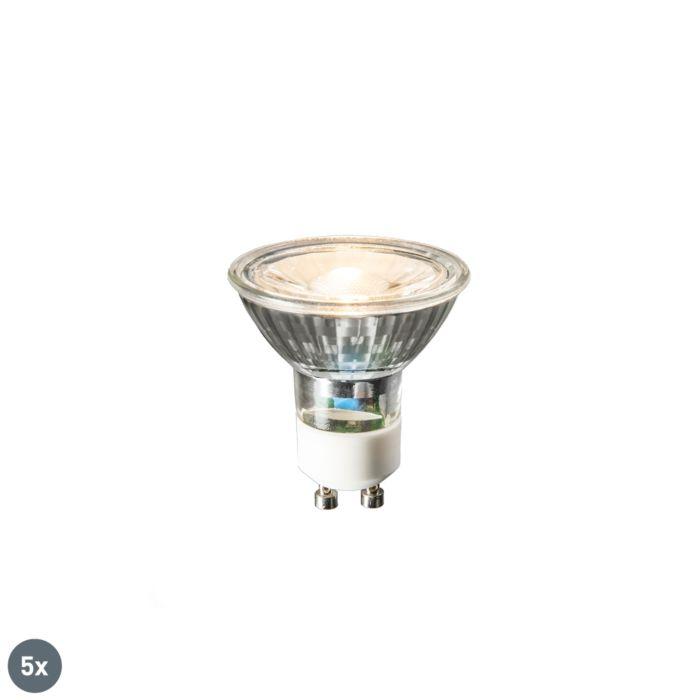 Sada-5-LED-žárovek-GU10-COB-3W-230lm-2700K