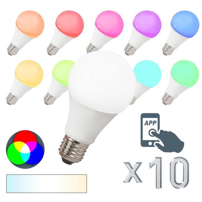 Sada-10-LED-žárovek-E27-240V-7W-500lm-A60-Smart-Light