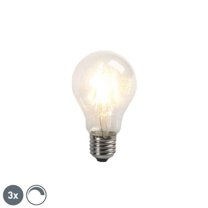 Sada-3-LED-žárovek-s-vlákny-E27,-stmívatelná-4W,-390lm
