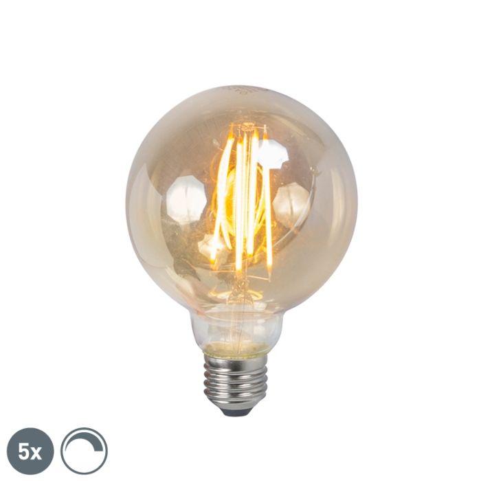 Sada-5-stmívatelných-kouřových-lamp-LED-E27-5W-450lm-2200K