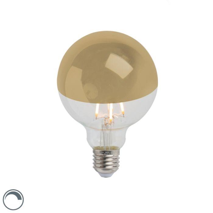 Zrcadlo-LED-žárovky-s-reflektorem-zlaté-E27-240V-4W-280lm-2300K-G95-stmívatelné