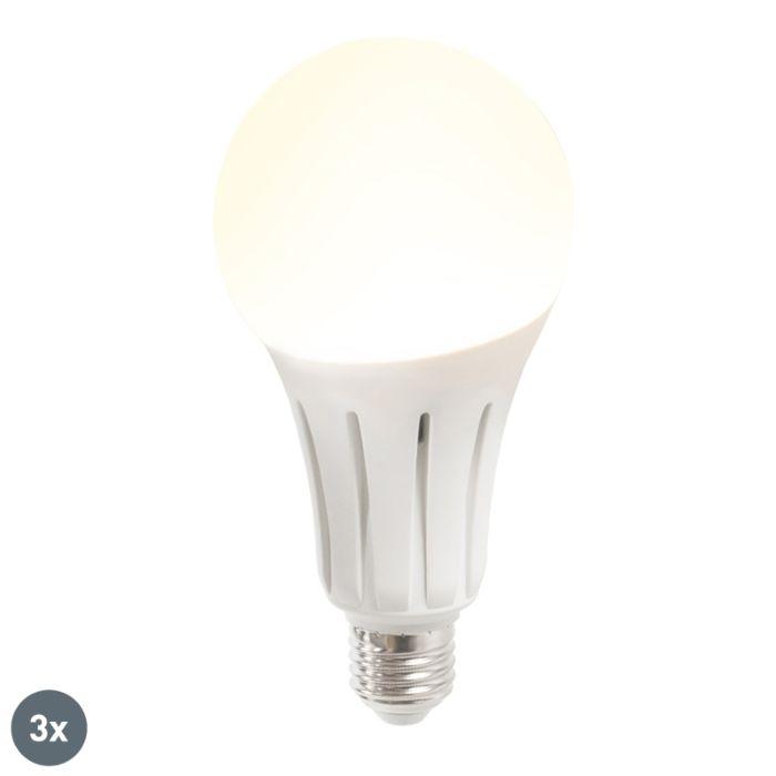 Sada-3-LED-žárovek-B60-18W-E27-teplá-bílá