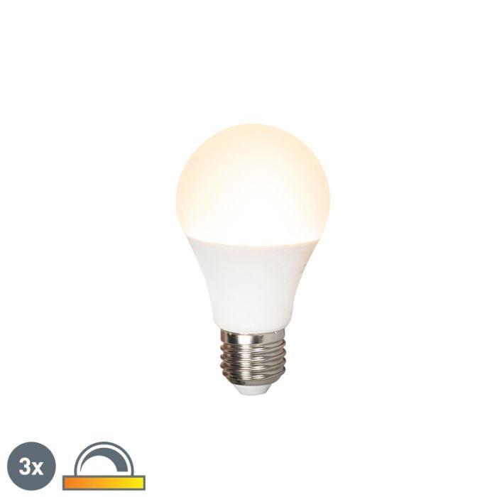Sada-3-LED-žárovek-E27-240V-7W-510lm-A60-stmívatelných