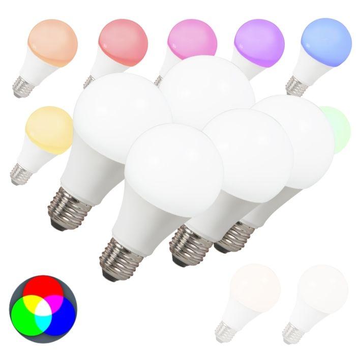 Sada-5-LED-žárovek-E27-240V-7W-500lm-A60-Smart-Light