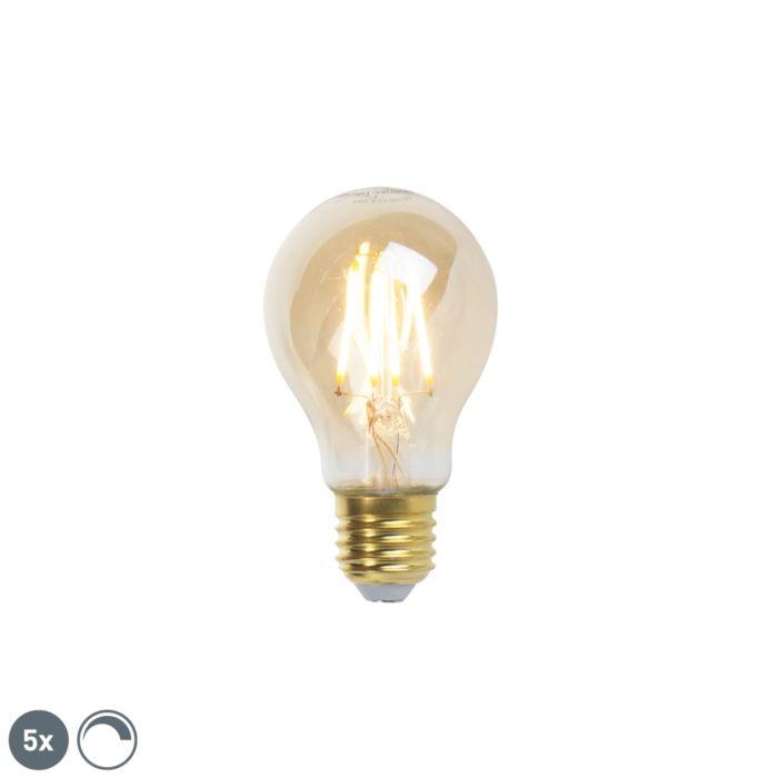 Sada-5-stmívatelných-LED-žárovek-E27-goldline-360lm-2200K