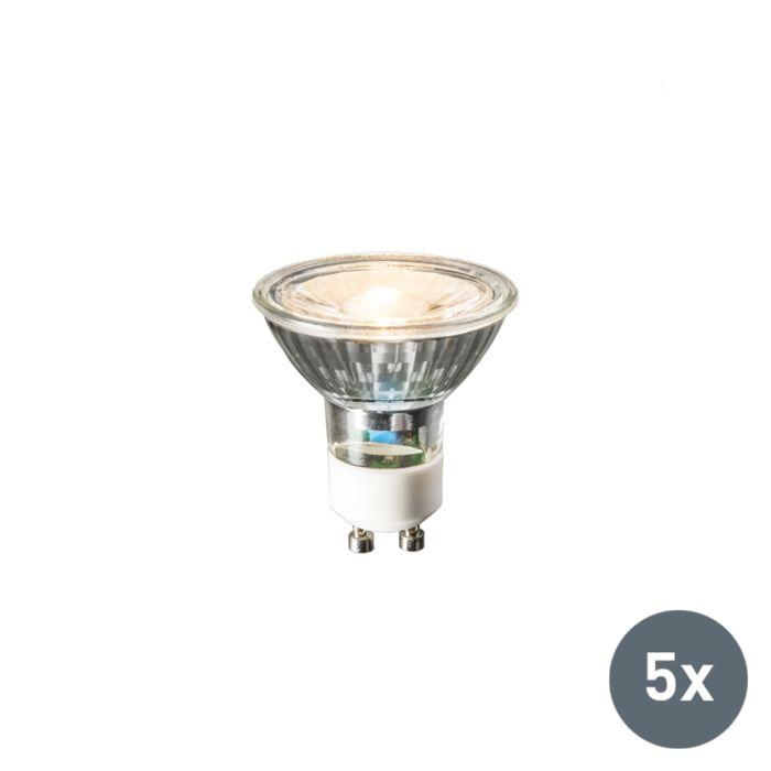 Sada-5-LED-žárovky-GU10-240-V-3-W-230-lm-teplá-bílá