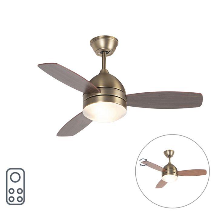Bronzový-stropní-ventilátor-s-dálkovým-ovládáním---Rotar