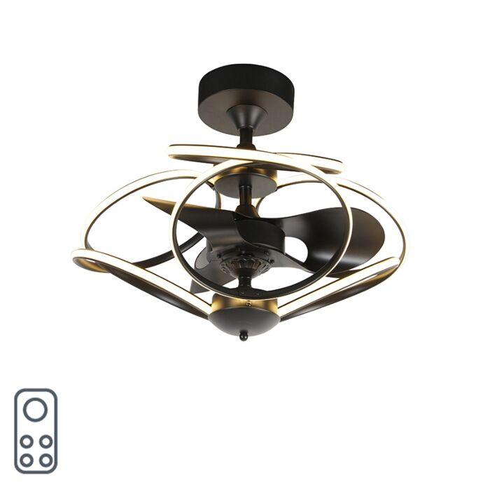 Designový-stropní-ventilátor-černý-s-dálkovým-ovládáním-vč.-LED---Kauv